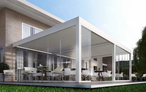 Coperture per ristoranti e hotel prestigepergole for Pergole bioclimatiche prezzi